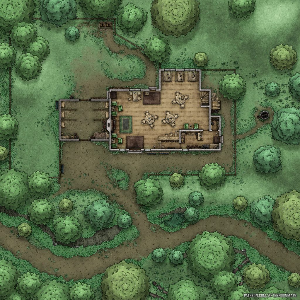 Half Pint Tavern Battle Map – Launch – Afternoon Maps