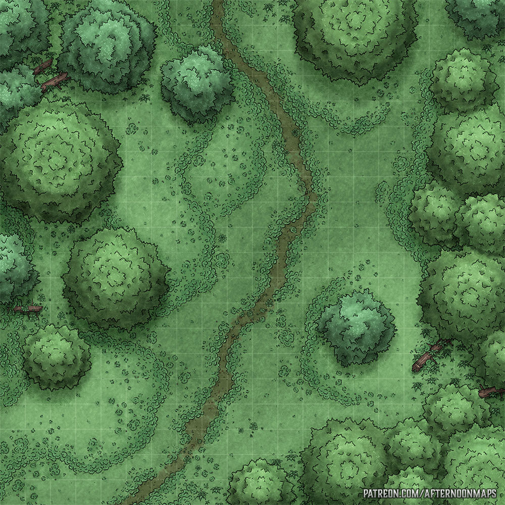 Woodland Path Battle Map – Launch – Afternoon Maps